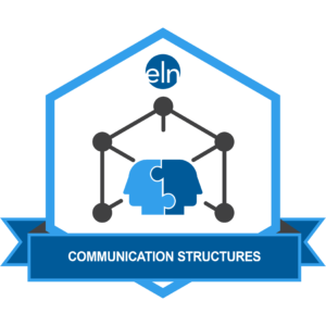 graphic of two heads indicating communications structure